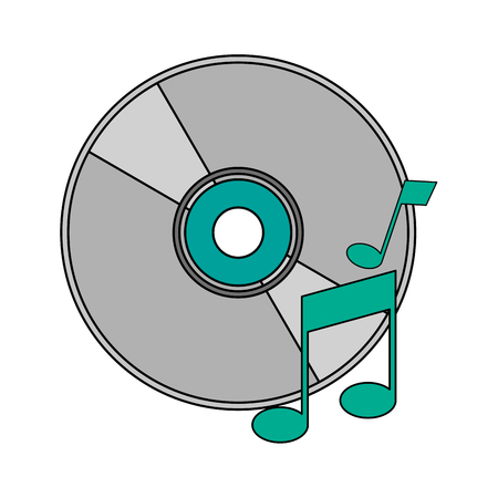white background with music compact disc vector illustration