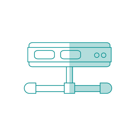 domain: Flat line server over white background. Vector illustration.