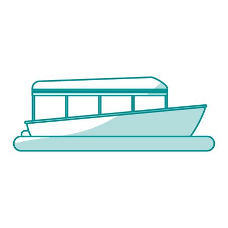 dinghy: boat tourist illustration icon vector design graphic shadow