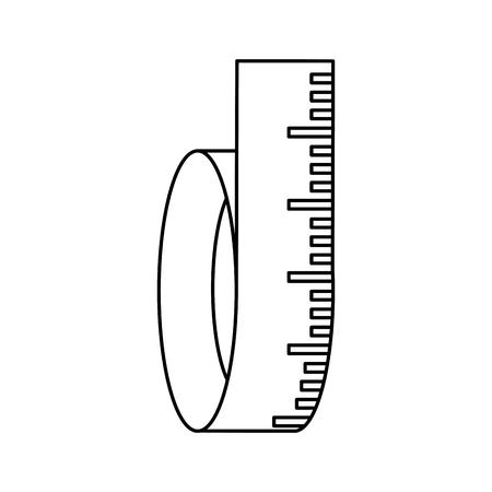 ruler measurements sport flat icon vector design graphic illustration