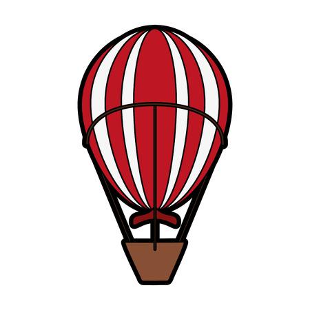 hot air balloon icon image vector illustration design