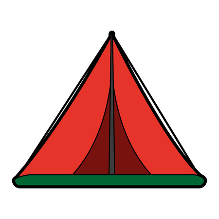 nylon: camping tent icon image vector illustration design