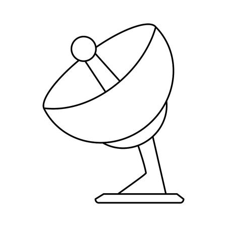 satellite dish icon image vector illustration design  black line Illustration