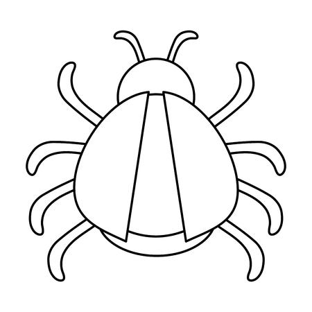 simple life: bug or beatle icon image vector illustration design  black line