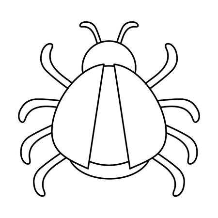 bug or beatle icon image vector illustration design  black line