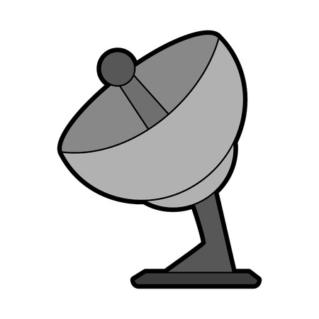 tv tower: satellite dish icon image vector illustration design
