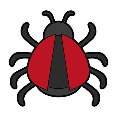 bug or beatle icon image vector illustration design