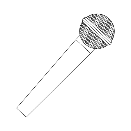 microphone sound recording equipment communication vector illustration