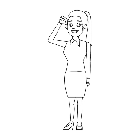 appearance: character woman politician standing wearing skirt vector illustration Illustration