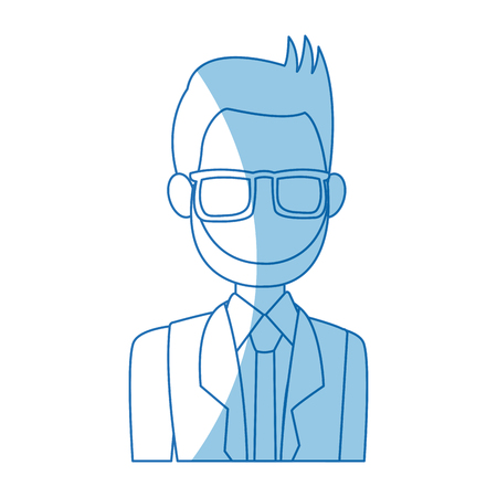 politician male character business suit standing vector illustration Illustration