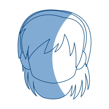 Chibi anime girl avatar contorno por defecto ilustración vectorial Foto de archivo - 80128473