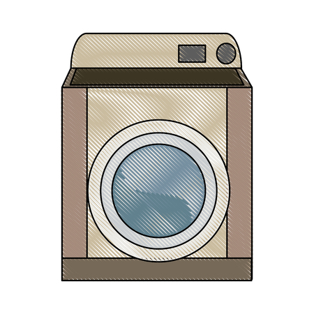 icon: washing machine appliance laundry clean icon vector illustrator