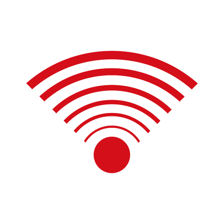 wifi access: wifi internet signal connection icon vector illustration
