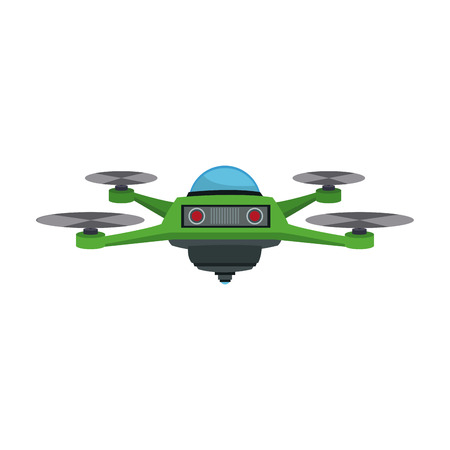 drone fly gadget technology remote propeller innovation vector illustration Illustration