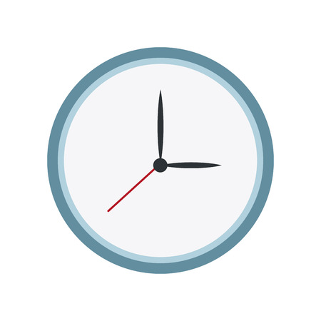 dial pad: round clock time hour date icon vector illustration Illustration