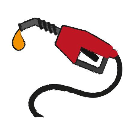 gas pump icon image vector illustration design  sketch style