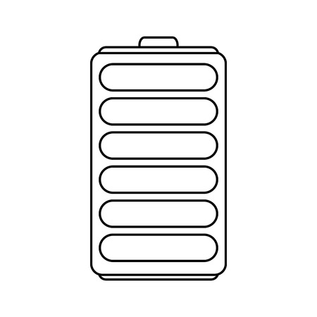 rechargeable: single battery icon image vector illustration design  black line