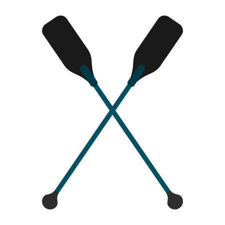 boat oars  icon image vector illustration design