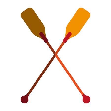 rowboat: boat oars  icon image vector illustration design