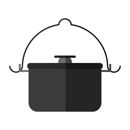 survive: pot camping related icon image vector illustration design Illustration