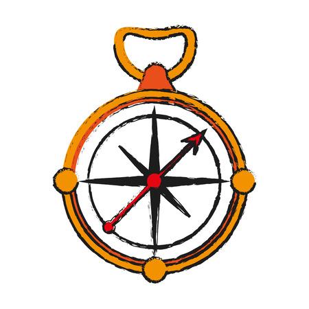 global positioning system: navigation compass icon image vector illustration design Illustration