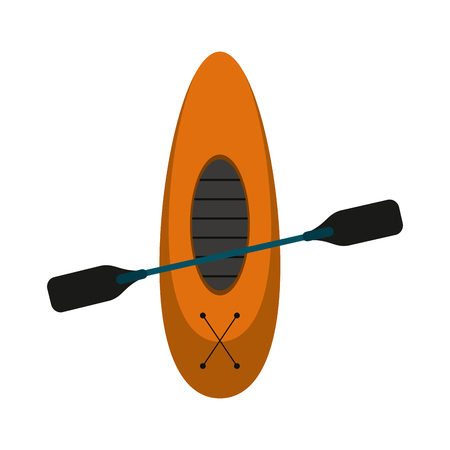 oar and row boat icon image vector illustration design Illustration