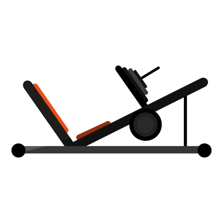 leg press fitness related icon image vector illustration design Illustration