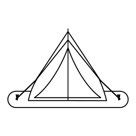 tent camping related icon image vector illustration design  single black line Illustration