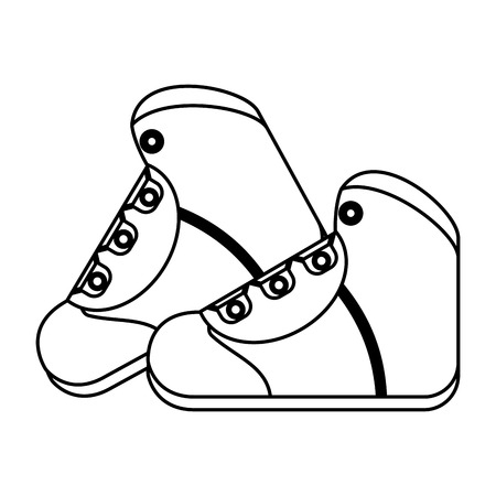 hiking boot icon image vector illustration design  single black line Illustration