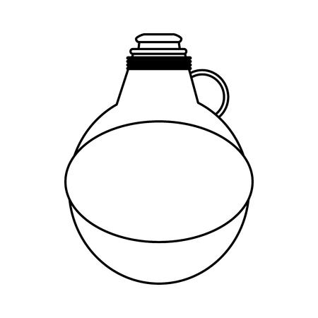 water canteen icon image vector illustration design  single black line