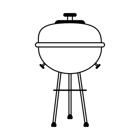 bbq barbecue grill icon image vector illustration design  single black line