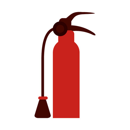 inflammable: Fire extinguisher flames icon vector illustration design graphic