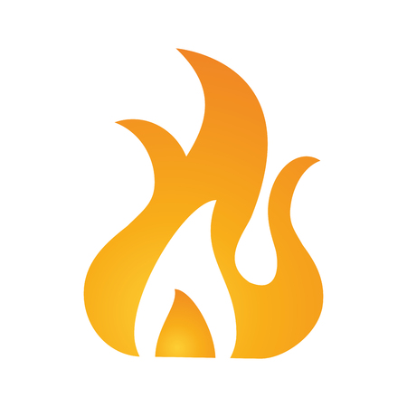 fiery: Hot fire flame icon vector illustration design graphic