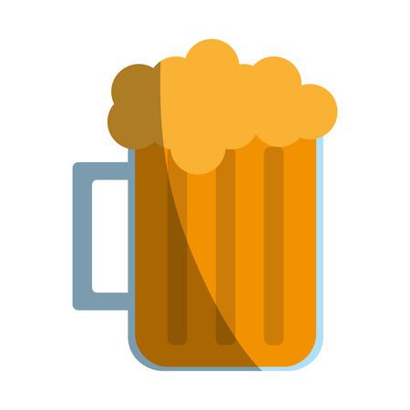 Beer glass foam illustration icon vector design graphic shadow
