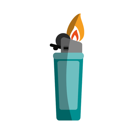 Fire flame lighter icon vector illustration design graphic shadow