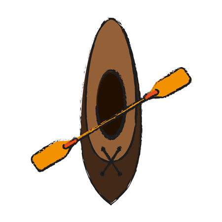oar and row boat icon image vector illustration design Illustration