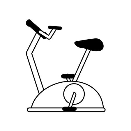 stationary bike spinning fitness related icon image vector illustration design  single black line Illustration