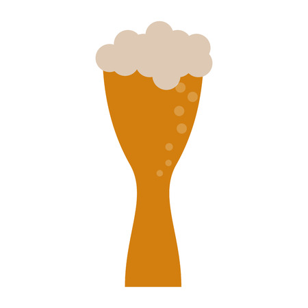 brewed: Beer glass foam illustration icon vector design graphic