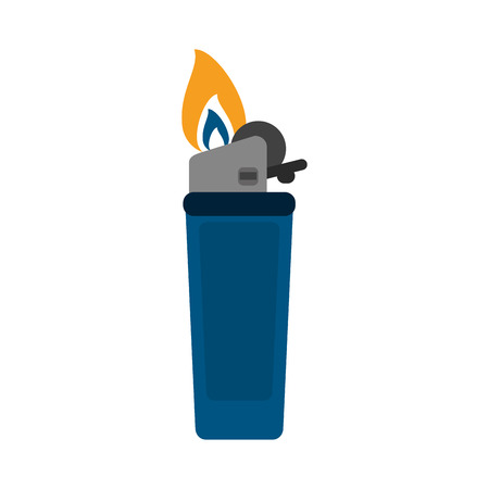 gas lighter: Fire flame lighter icon vector illustration design graphic