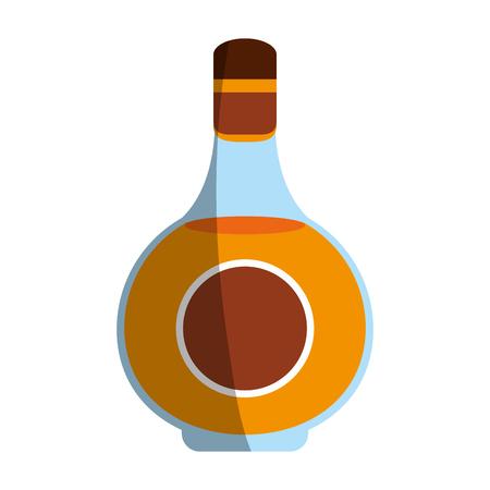 Delicious wine drink bottle icon vector illustration design graphic shadow