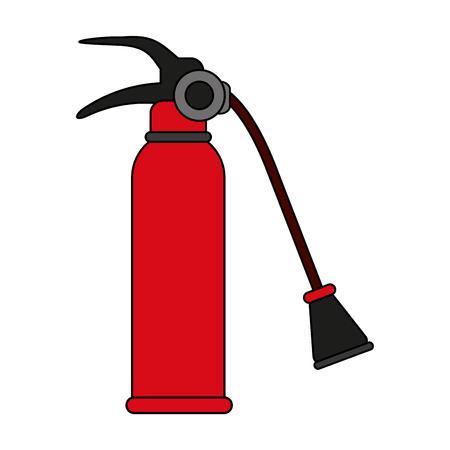 suppression: Fire extinguisher flames icon vector illustration design graphic flat