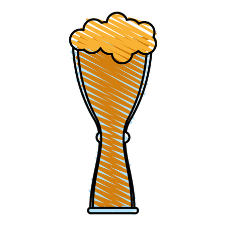 Beer glass foam illustration icon vector design graphic scribble Illustration