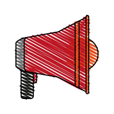Garabato del gráfico del diseño del ejemplo del vector del icono de la alarma de la alarma de incendio