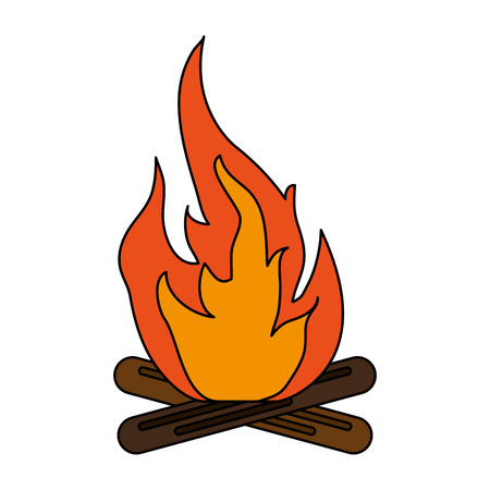 Hot fire flame icon vector illustration design graphic flat