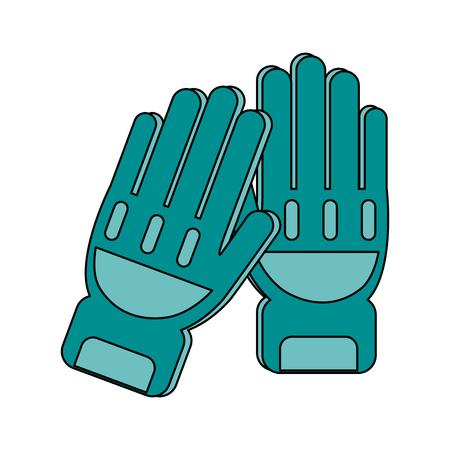 Fire fighter gloves icon vector illustration design graphic flat Illustration