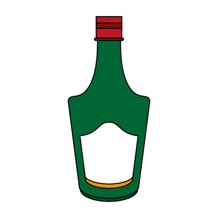 Delicious wine drink bottle icon vector illustration design graphic flat