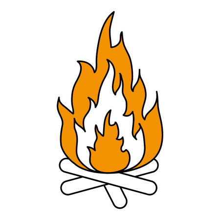 flammable: Hot fire flame icon vector illustration design graphic flat