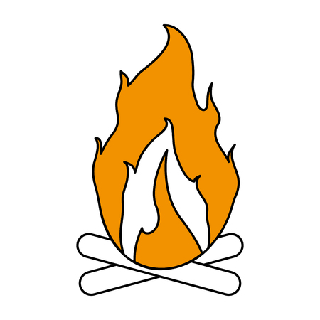 fiery: Hot fire flame icon vector illustration design graphic flat