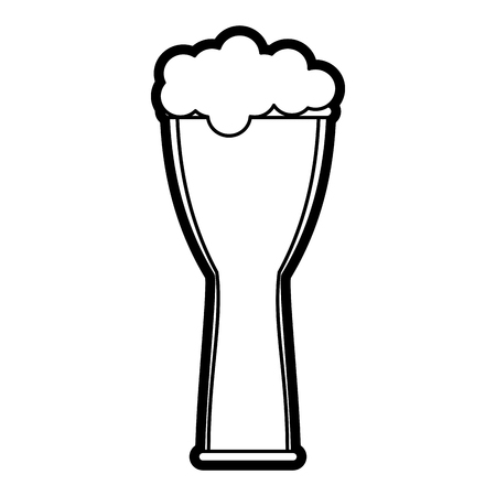 beers: Beer glass foam illustration icon vector design graphic silhouette