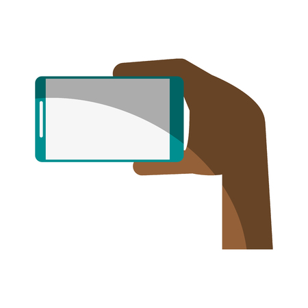 wireless connection: electronic cell phone on icon vector illustration design graphic shadow Illustration